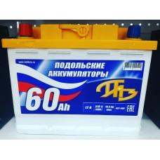 Аккумулятор автомобильный 6СТ-60 Подольский 510А пп