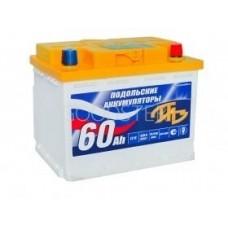 Аккумулятор автомобильный 6СТ-60 Подольский 510А оп