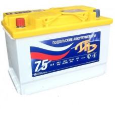 Аккумулятор автомобильный 6СТ-75 Подольский 670А пп
