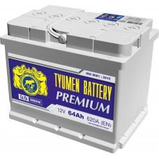 Аккумулятор автомобильный 6СТ-64 Тюмень Premium 620 А пп
