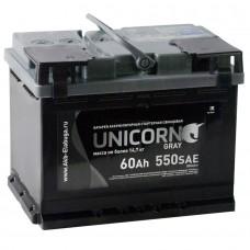 Аккумулятор автомобильный 6СТ-60 UNICORN 550А пп