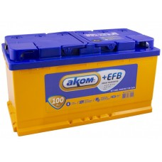 Аккумулятор автомобильный 6СТ-100 АКОМ + EFB 930А оп