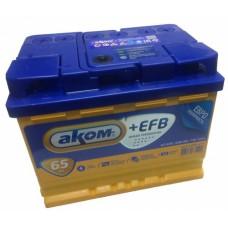 Аккумулятор автомобильный 6СТ-65 АКОМ + EFB 650А оп