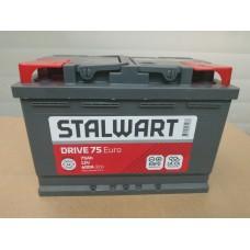 Аккумулятор автомобильный 6СТ-75  STALWART Drive (Аком) 600А пп