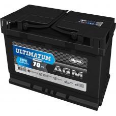 Аккумулятор автомобильный 6СТ-70 АКОМ ULTIMATUM AGM 760А оп