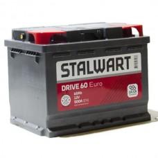 Аккумулятор автомобильный 6СТ-60  STALWART Drive (Аком) 500А оп