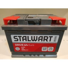 Аккумулятор автомобильный 6СТ-64  STALWART Drive (Аком) 530А оп