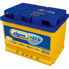 Аккумулятор автомобильный 6СТ-62 АКОМ + EFB 580А оп