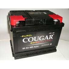 Аккумулятор автомобильный 6СТ-60 COUGAR 480А оп