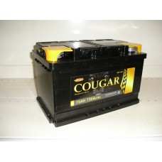 Аккумулятор автомобильный 6СТ-75 COUGAR 730А оп низкий