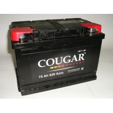 Аккумулятор автомобильный 6СТ-75 COUGAR 620А оп
