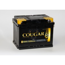 Аккумулятор автомобильный 6СТ-60 COUGAR 520А оп