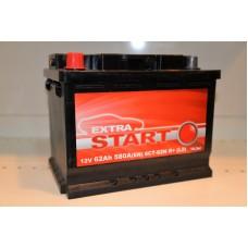 Аккумулятор автомобильный 6СТ-62 EXTRA START 580А пп