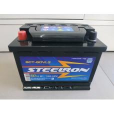 Аккумулятор автомобильный 6СТ-60 Steelron 500 А пп