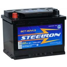 Аккумулятор автомобильный 6СТ-60 STEELRON 500А пп