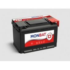 Аккумулятор автомобильный 6СТ-62 MONBAT DYNAMIC 62 а/ч, 520А оп