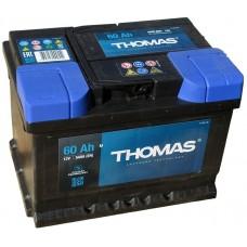 Аккумулятор автомобильный 6СТ-60 THOMAS  540А оп