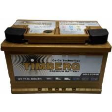 Аккумулятор автомобильный 6СТ-77 Timberg Gold 800А оп