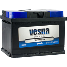 Аккумулятор автомобильный 6СТ-60 VESNA 600А оп