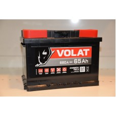 Аккумулятор автомобильный 6СТ-65 VOLAT 680А оп (низкий)