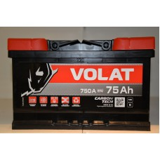 Аккумулятор автомобильный 6СТ-75 VOLAT 750А оп (низкий)