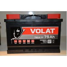 Аккумулятор автомобильный 6СТ-75 VOLAT 780А пп