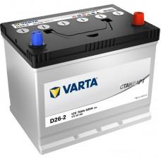 Аккумулятор автомобильный 6СТ-75 VARTA Стандарт Asia 680А оп