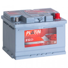Аккумулятор автомобильный 6СТ-60 Platin Pro 550А оп, низкий