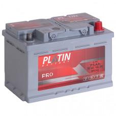 Аккумулятор автомобильный 6СТ-75 Platin Pro 740А оп, низкий