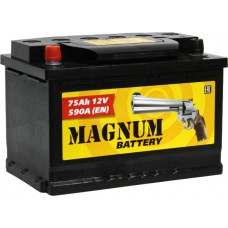 Аккумулятор автомобильный 6СТ-75 MAGNUM 590А оп