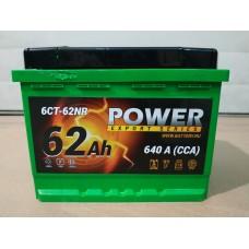 Аккумулятор автомобильный 6СТ-62 POWER 640А, оп
