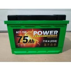 Аккумулятор автомобильный 6СТ-75 POWER 710А, оп