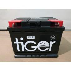 Аккумулятор автомобильный 6СТ-60 TIGER 520А пп