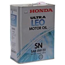 Масло моторное HONDA ULTRA LEO 0w-20 SN 4л